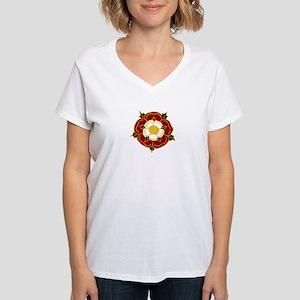 Tudor Rose Women's V-Neck T-Shirt