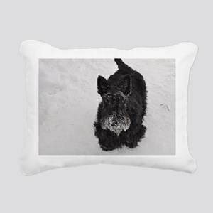 snowpiper Rectangular Canvas Pillow