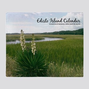 calendar cover edisto Throw Blanket