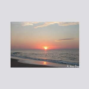 calendar january edisto sunrise Rectangle Magnet