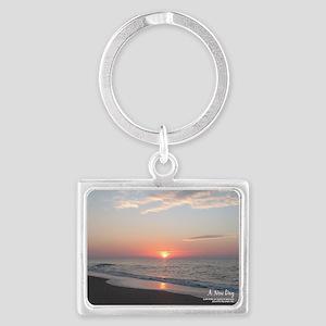 calendar january edisto sunrise Landscape Keychain