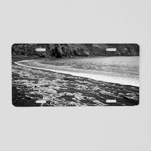 Remote volcanic beach Aluminum License Plate