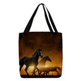 Animals horses Polyester Tote Bag