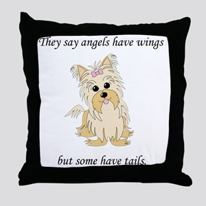 Angels-with-Tails3 Throw Pillow