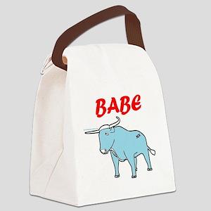 BIG BLUE WORDS Canvas Lunch Bag