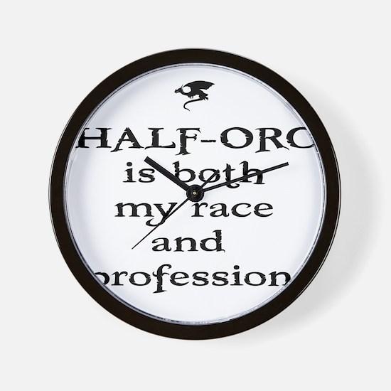 halforc Wall Clock