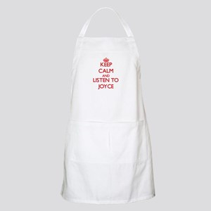 Keep Calm and listen to Joyce Apron