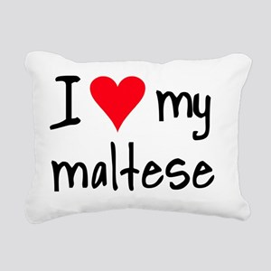 iheartmaltese Rectangular Canvas Pillow