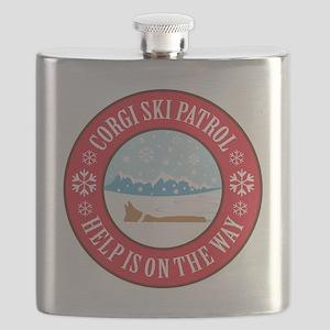 corgi-ski-patrol Flask