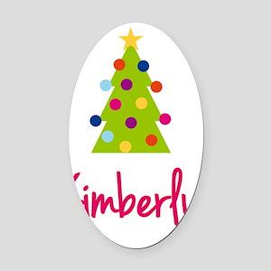 Christmas-tree-Kimberly Oval Car Magnet