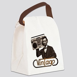 abe lincoln boombox Canvas Lunch Bag