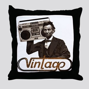 abe lincoln boombox Throw Pillow