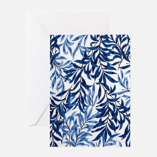 Leaf Blue Greeting Card