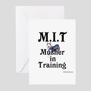 Siberian Husky Dog Sled Musher Greeting Cards (Pac