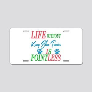 Life without Kerry Blue Ter Aluminum License Plate