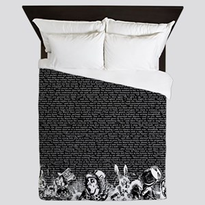 alice-vintage-border_black_18x21h Queen Duvet