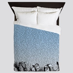 alice-vintage-border_blue_14-333x18v Queen Duvet