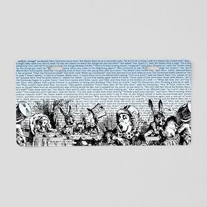 alice-vintage-border_blue_1 Aluminum License Plate