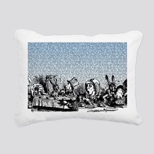 alice-vintage-border_blu Rectangular Canvas Pillow