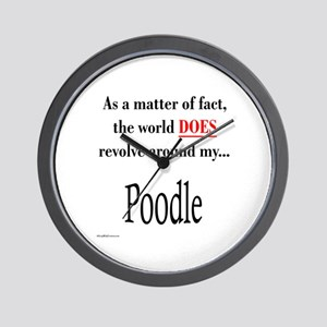 Poodle World Wall Clock
