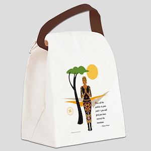 YogaAfricacardNvala Canvas Lunch Bag