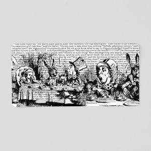 alice-vintage-border_bw_10x Aluminum License Plate