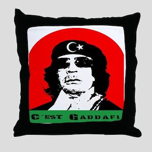 gaddafi4 Throw Pillow