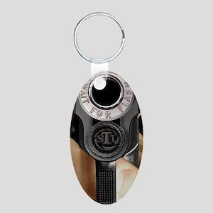 iPhone_1c Aluminum Oval Keychain