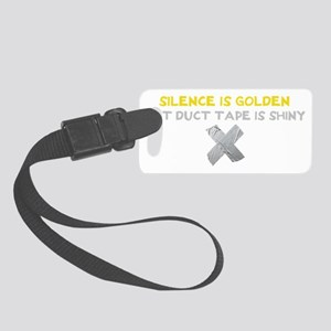 duct tape wh Small Luggage Tag