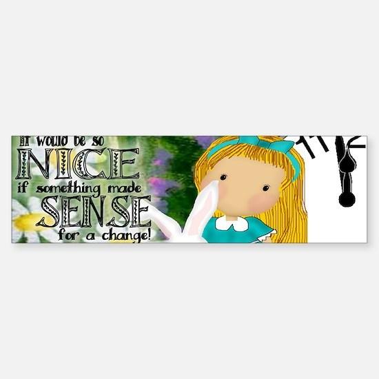 alicerabbit_mug_kat Sticker (Bumper)