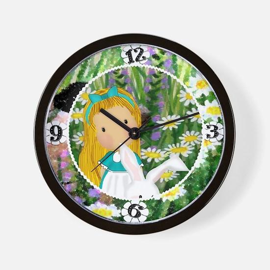 alicerabbit_clock_kat Wall Clock