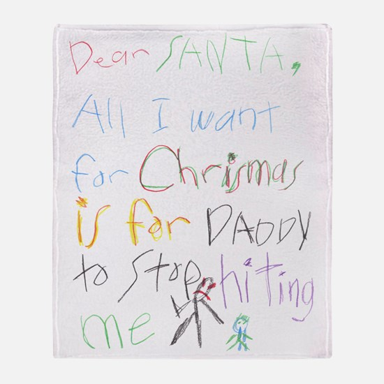 Dear Santa Throw Blanket