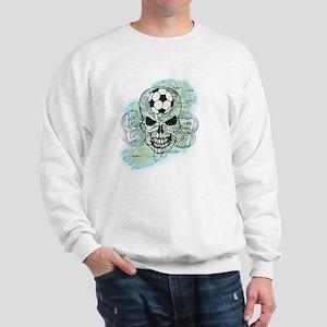 irish soccer skeleton Sweatshirt