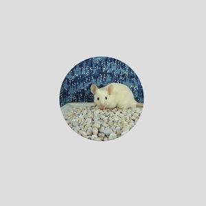 Winter Mouse Mini Button