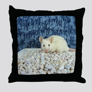 Winter Mouse Throw Pillow