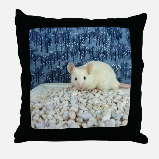 Winter Mouse Throw Pillow