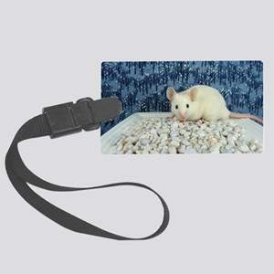 Winter Mouse Large Luggage Tag