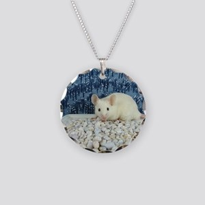 Winter Mouse Necklace Circle Charm