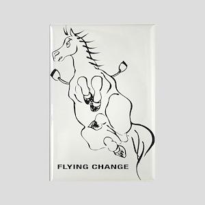 FLYING-CHANGE-BLA Rectangle Magnet