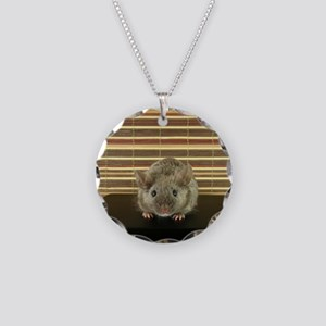 Mousey Necklace Circle Charm