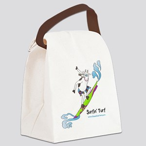Surfin4CafeSideWht Canvas Lunch Bag