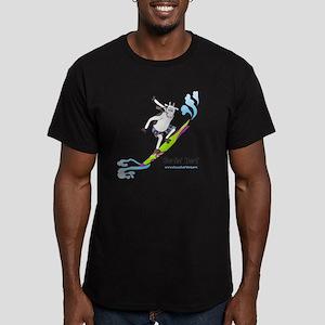 Surfin4CafeSideWht Men's Fitted T-Shirt (dark)