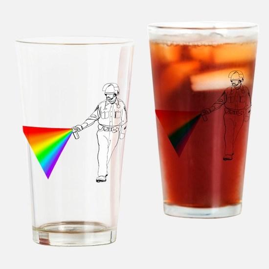 peppercoprainbow1 Drinking Glass