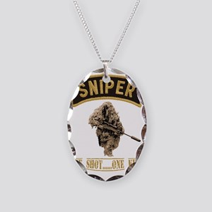 sniperback.gif Necklace Oval Charm