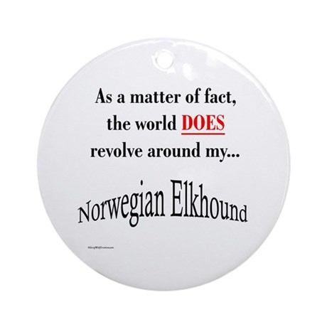 Elkhound World Ornament (Round)