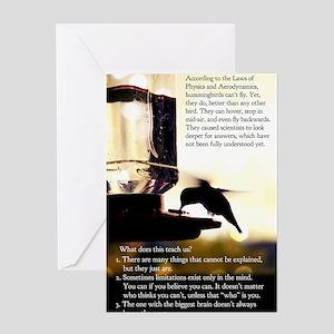 Hummingbird Poster Greeting Card