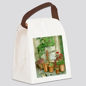 Patio Garden Canvas Lunch Bag