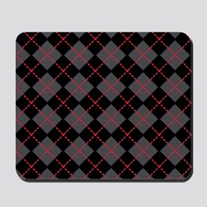 Argyle_Black1_1_44 Mousepad