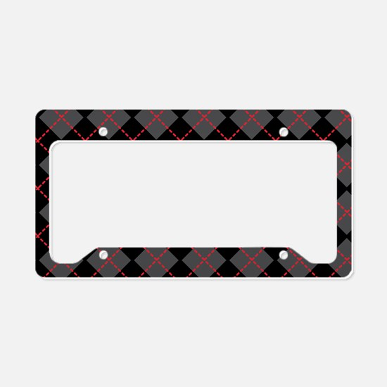 Argyle_Black1_1_44 License Plate Holder