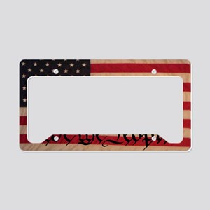 WE THE PEOPLE WITH FLAG OF AM License Plate Holder